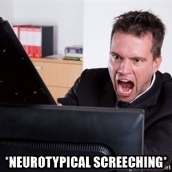Angry Computer User -  *NEUROTYPICAl screeching*