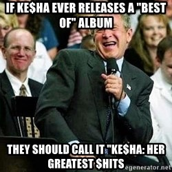 "Laughing Bush - If Ke$ha Ever releases a ""Best of"" Album They should call it ""Ke$ha: Her Greatest $hits"
