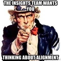 Uncle Sam Point - The Insights team wants you  Thinking about alignment