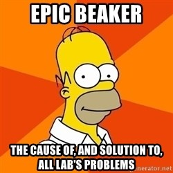 Homer Advice - Epic Beaker The Cause of, and solution to, all Lab's Problems