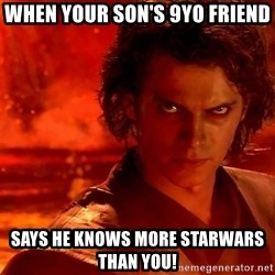 Anakin Skywalker - When your SON's 9yo FRIEND Says he KNOWS MORE STARWARS than you!
