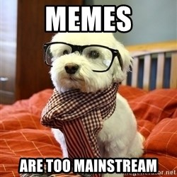 hipster dog - Memes Are too mainstream