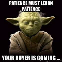 ProYodaAdvice - PATIENCE MUST LEARN PATIENCE YOUR BUYER IS COMING ...