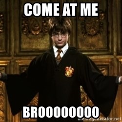 Harry Potter Come At Me Bro - COME AT ME BROOOOOOOO