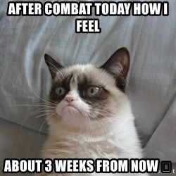 Grumpy cat 5 - After combat today how I feel  About 3 weeks from now 😉