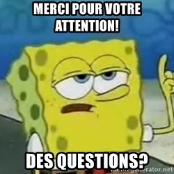 Tough Spongebob - merci pour votre attention! des questions?