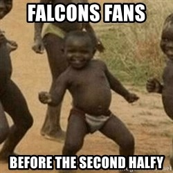 Little Black Kid - Falcons fans  Before the SeconD halfY