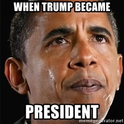 Obama Crying - When trump became  president