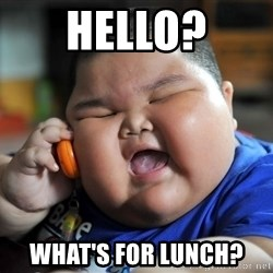 Fat Asian Kid - Hello? What's for lunch?