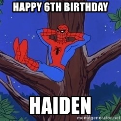 Spiderman Tree - Happy 6th birthday Haiden