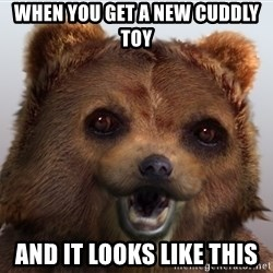 Pedobear - when you get a new cuddly toy and it looks like this