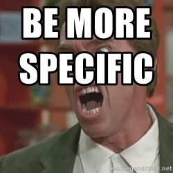 Arnold - bE MORE SPECIFIC