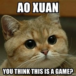 Do you think this is a motherfucking game? - ao xuan you think this is a game?