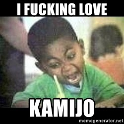 Black kid coloring - I fucking love  Kamijo