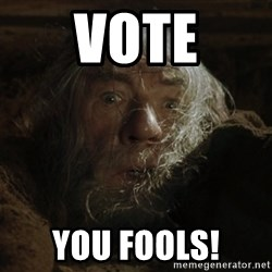 gandalf run you fools closeup - Vote You fools!