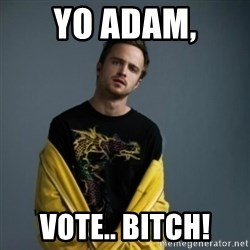 Jesse Pinkman - Yo Adam, vote.. Bitch!