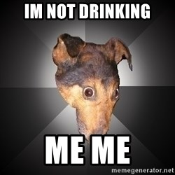 Depression Dog - im not drinking me me