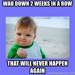 Baby fist - WAU down 2 weeks in a row That will never happen again