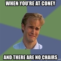 Sad Face Guy - When you're at coney And there are no chairs