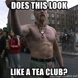 Techno Viking - does this look  like a tea club?