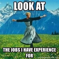 Julie Andrews looking for a fuck to give - Look at the jobs i have experience for