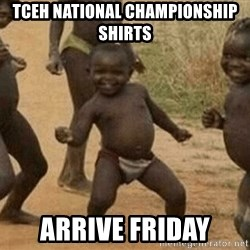 Success African Kid - Tceh National championship shirts arrive Friday