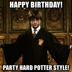 Harry Potter Come At Me Bro - Happy birthday! Party hard potter style!