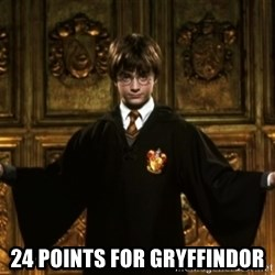 Harry Potter Come At Me Bro -  24 points for Gryffindor