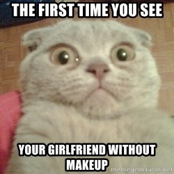 GEEZUS cat - ThE fiRst time you see Your girlfriend Without makeup