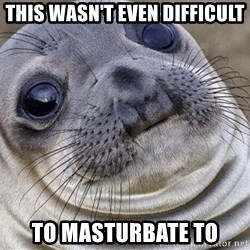 Awkward Moment Seal - This wasn't even difficult to masturbate to