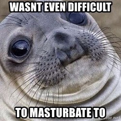 Awkward Moment Seal - wasnt even difficult to masturbate to