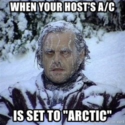 """Frozen Jack - When your host's A/C is set to """"arctic"""""""