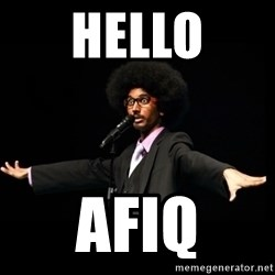AFRO Knows - Hello Afiq