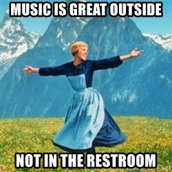 Sound Of Music Lady - Music is great outside not in the restroom