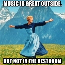 Sound Of Music Lady - Music is great outside. but Not in the Restroom