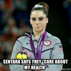 "McKayla Maroney Not Impressed -  sentara says they ""care about my health"""