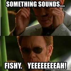 Csi - Something sounds.... Fishy.    Yeeeeeeeeah!