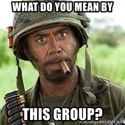 Tropic Thunder Downey - What do you mean by This group?