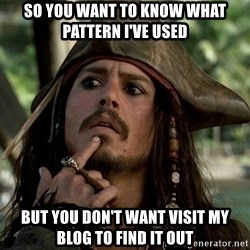 Capt Jack Sparrow - So you want to know what pattern I've used but you don't want visit my blog to find it out