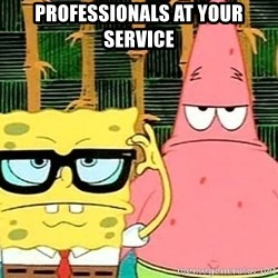 Serious Spongebob - Professionals at your service