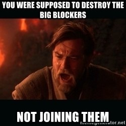 "Obi Wan Kenobi ""You were my brother!"" - YOU WERE SUPPOSED TO DESTROY THE BIG BLOCKERS NOT JOINING THEM"