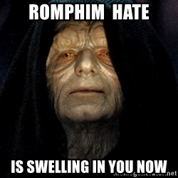 Star Wars Emperor - Romphim  hate is swelling in you now