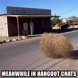 Tumbleweed -  MEANWHILE in hangout chats
