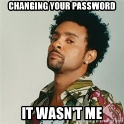 Shaggy. It wasn't me - changing Your paSsWOrd It wasn't me