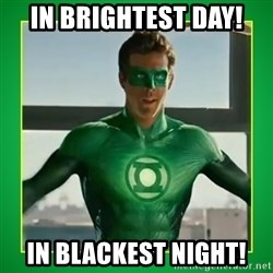 Green Lantern - In Brightest Day! In Blackest Night!