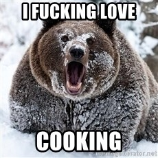 Cocaine Bear - I FUCKING LOVE COOKING