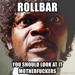Mad Samuel L Jackson - ROLLBAr You should look at it motherfuckers
