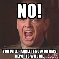 Jack Nicholson - You can't handle the truth! - No! You Will handle it now or Rms reports wIll die