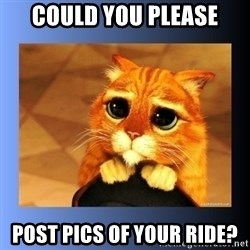 puss in boots eyes 2 - Could you please post pics of your ride?