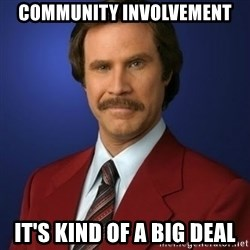 Anchorman Birthday - Community involvement it's kind of a big deal
